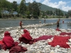 Monks washing at Punakha Dzong