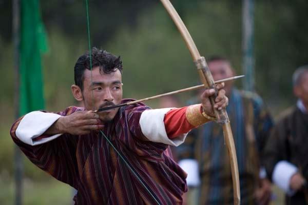 Man playing archery