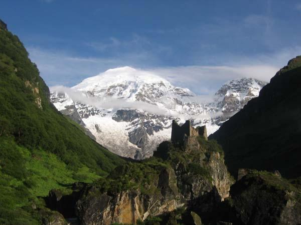 Snow capped Mount Jomolhari