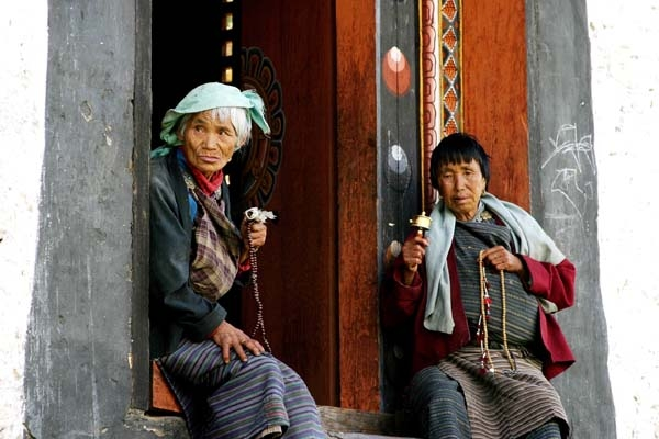 Old woman in Bumthang