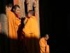 Monks in orange robes
