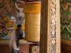 Large prayer wheel in Punakha Dzong