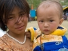Mother and daughter at Tarayana fair, Thimphu